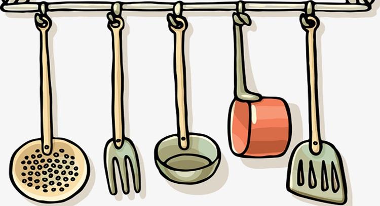 Utensilios de la cocina en inglés